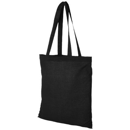 Carolina 100 g/m² cotton tote bag in black-solid