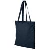 Carolina 100 g/m² cotton tote bag in navy