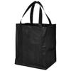 Liberty bottom board non-woven tote bag in black-solid