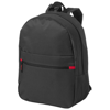 Vancouver dual front pocket backpack in black-solid