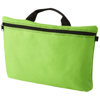 Orlando zippered conference bag with pen loop in lime