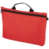 Orlando zippered conference bag with pen loop in red