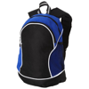 Boomerang backpack in black-solid-and-royal-blue