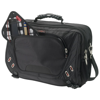 Proton security friendly 17'' laptop briefcase in black-solid