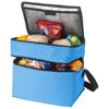 Oslo 2-zippered compartments cooler bag in aqua