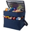 Oslo 2-zippered compartments cooler bag in navy