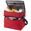 Oslo 2-zippered compartments cooler bag in red