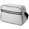 Sacramento 2-stripe messenger bag in white-solid