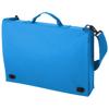 Santa Fe 2-buckle closure conference bag in aqua-blue