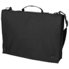 Santa Fe 2-buckle closure conference bag in black-solid