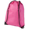 Evergreen non-woven drawstring backpack in cerise