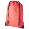 Evergreen non-woven drawstring backpack in red