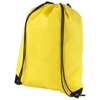 Evergreen non-woven drawstring backpack in yellow