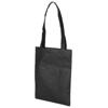 Eros small non-woven convention tote bag in black-solid