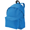 Urban covered zipper backpack in aqua-blue