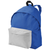 Urban covered zipper backpack in blue-and-white-solid