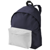 Urban covered zipper backpack in navy-and-white-solid