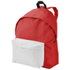 Urban covered zipper backpack in red-and-white-solid