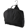 Global toiletry bag with metal hook in black-solid