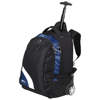 Wembley 15.5'' laptop trolley backpack in black-solid-and-blue