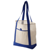 Lighthouse non woven Tote in off-white-and-blue