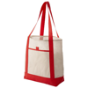 Lighthouse non woven Tote in off-white-and-red