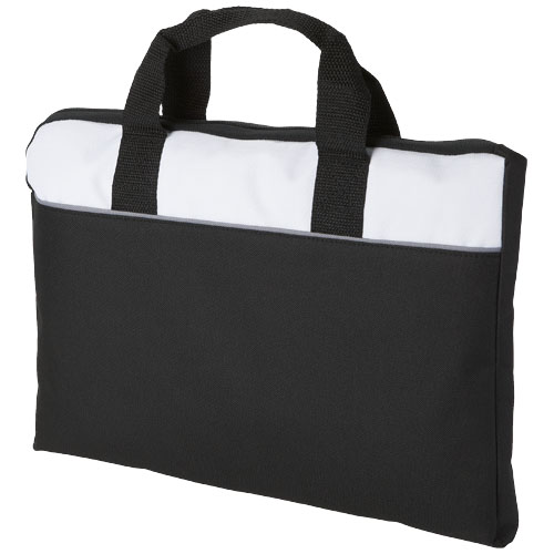 Tampa conference bag in black-solid-and-white-solid