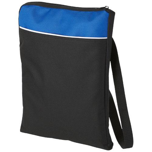 Miami shoulder bag in black-solid-and-royal-blue