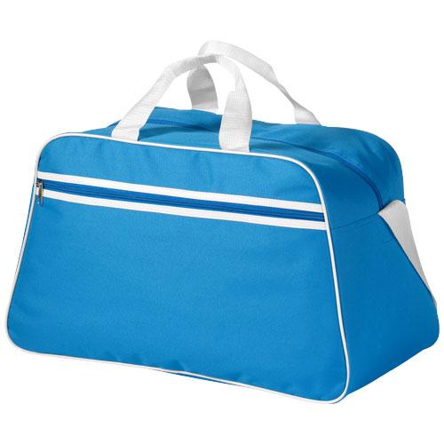 San Jose 2-stripe sports duffel bag in aqua
