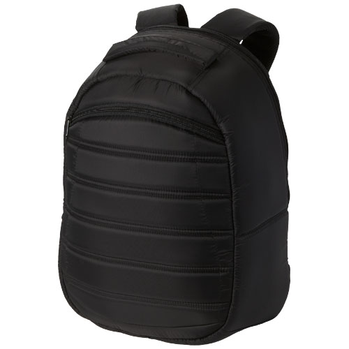 Down Backpack in black-solid