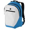 Ozark headphone port backpack in white-solid-and-aqua