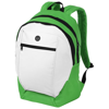 Ozark headphone port backpack in white-solid-and-green