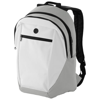 Ozark headphone port backpack in white-solid-and-grey
