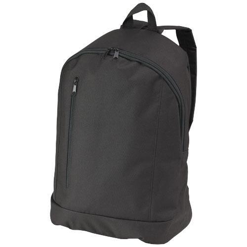 Boulder vertical zipper backpack in black-solid