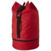 Idaho sailor zippered bottom duffel bag in red