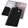 Voyageur travel wallet in black-solid