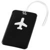 Voyage luggage tag in black-solid