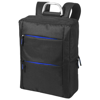 Boston 15.6'' Laptop backpack in black-solid-and-royal-blue