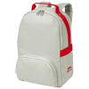 York backpack in grey-and-red