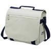York shoulder bag in grey-and-navy