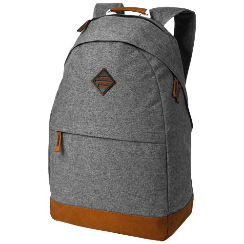 Echo 15.6'' laptop and tablet backpack in grey-melange