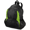 The Bamm-Bamm non woven backpack in black-solid-and-apple-green