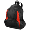 The Bamm-Bamm non woven backpack in black-solid-and-red