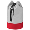 Dipp sailor duffel bag in grey-and-red