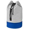 Dipp sailor duffel bag in grey-and-royal-blue