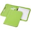 Ebony A4 zippered portfolio in apple-green