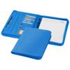 Ebony A4 zippered portfolio in aqua-blue