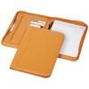 Ebony A4 zippered portfolio in orange