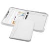 Ebony A4 zippered portfolio in white-solid
