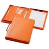 Ebony A4 briefcase portfolio in orange